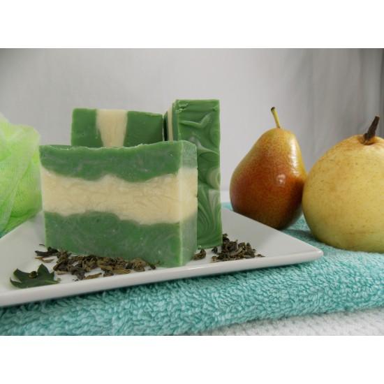 Savon thé vert et poire blanche