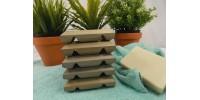 Porte-savon en cèdre gris